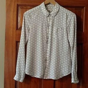 Ann Taylor LOFT button down chiffon blouse!